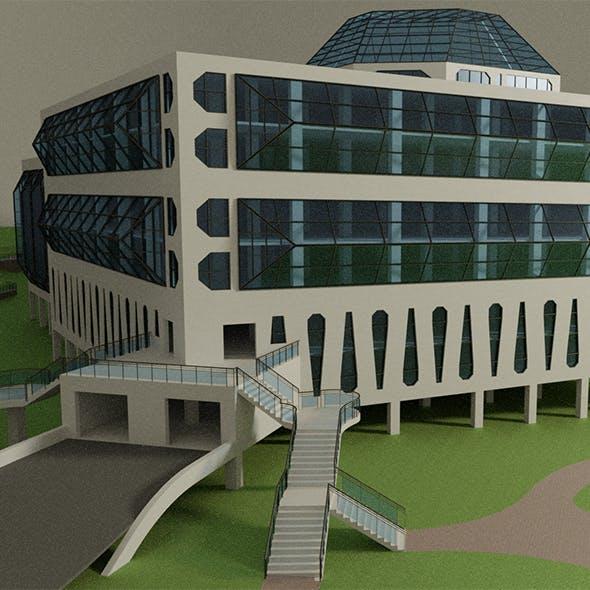 Science center building - 3DOcean Item for Sale