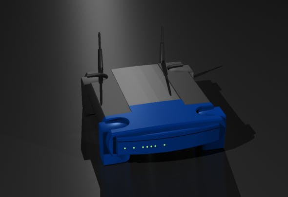 Wireless Broadband Network Router - 3DOcean Item for Sale