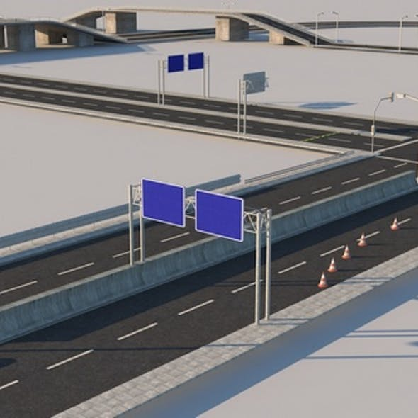 Road Modular Kit - Traffic Signs and Equipment
