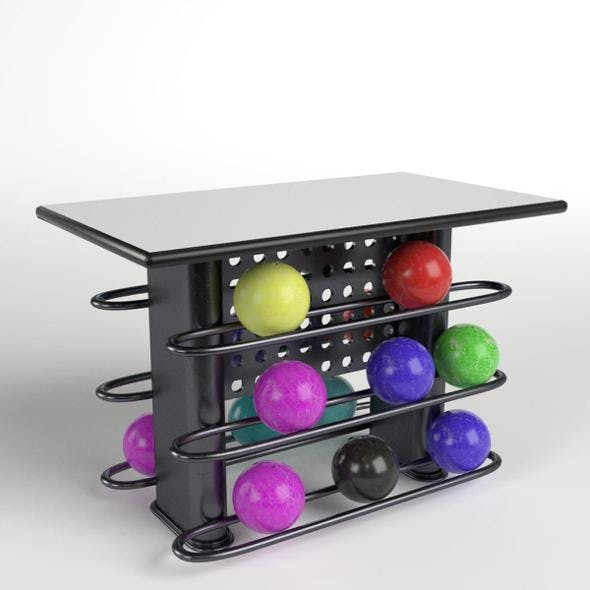 Bowling Table Rack 2 - 3DOcean Item for Sale