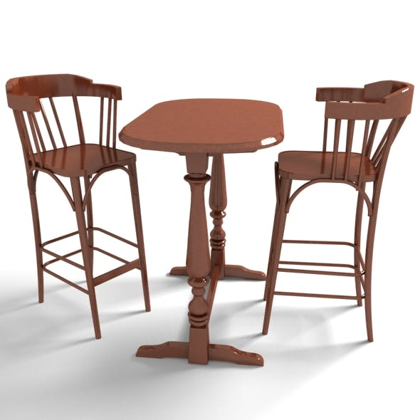 Furniture - Bar Table Set - 3DOcean Item for Sale