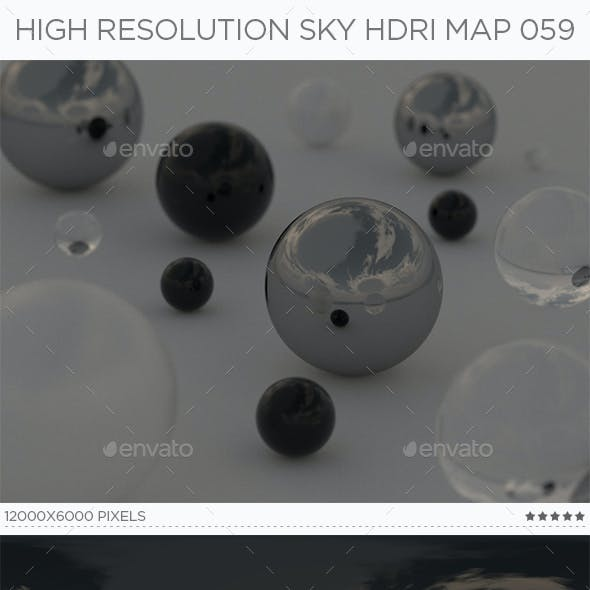High Resolution Sky HDRi Map 059