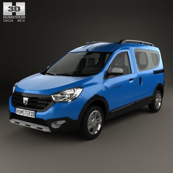 Dacia Dokker Stepway 2014 - 3DOcean Item for Sale