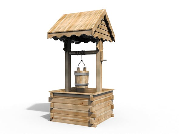 Wooden Well - 3DOcean Item for Sale