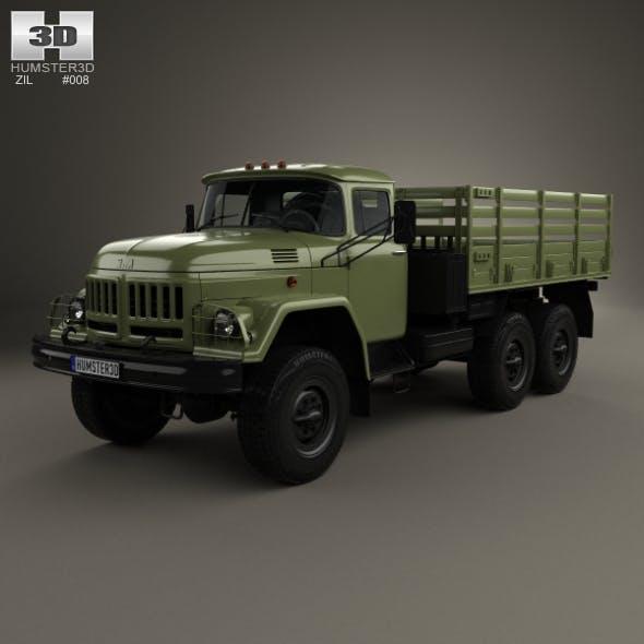 ZIL 131 Flatbed Truck 1966 - 3DOcean Item for Sale