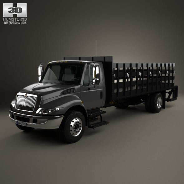 International DuraStar Flatbed Truck 2002 - 3DOcean Item for Sale