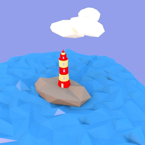 low poly sea - 3DOcean Item for Sale