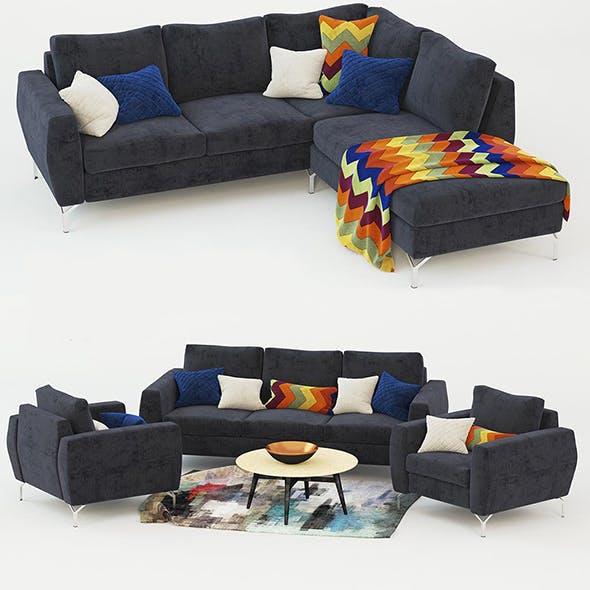 Sofa Booncept Nice 3D model - 3DOcean Item for Sale