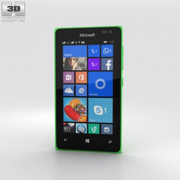 Microsoft Lumia 435 Green - 3DOcean Item for Sale
