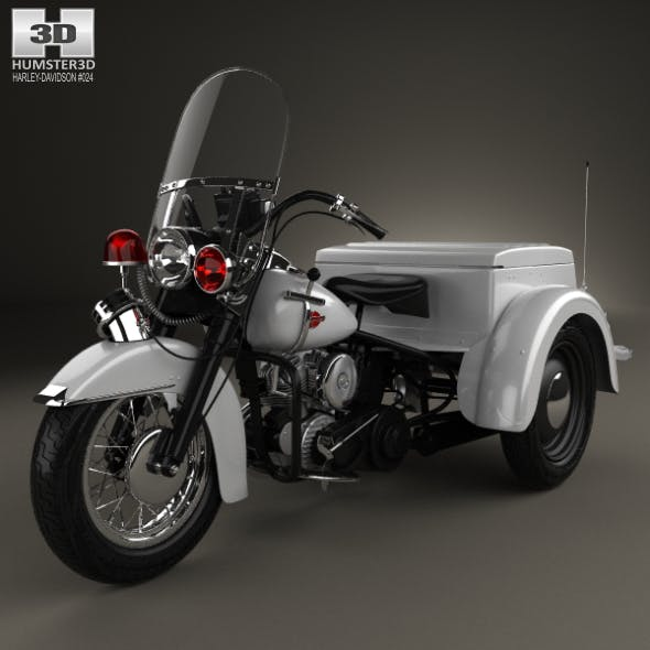 Harley-Davidson Servi-Car Police 1958 - 3DOcean Item for Sale