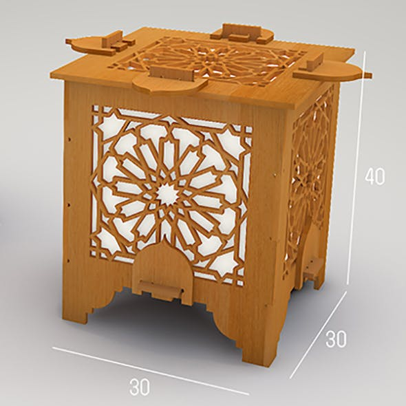 Islamic lantern cnc drawing - 3DOcean Item for Sale