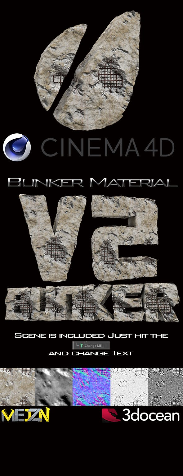 Bunker Material V2 - 3DOcean Item for Sale