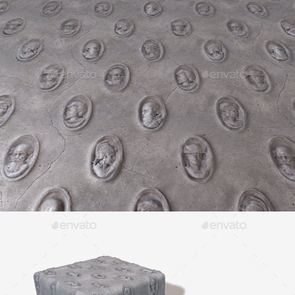 Sculpted Heads Wall Seamless Texture