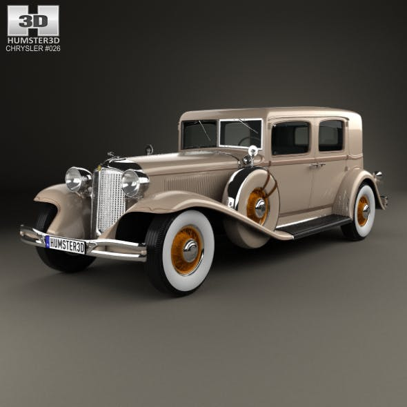 Chrysler Imperial Close Coupled Sedan 1931 - 3DOcean Item for Sale