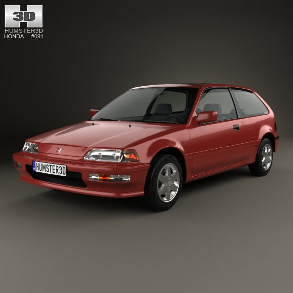 Honda Civic hatchback 1987 - 3DOcean Item for Sale
