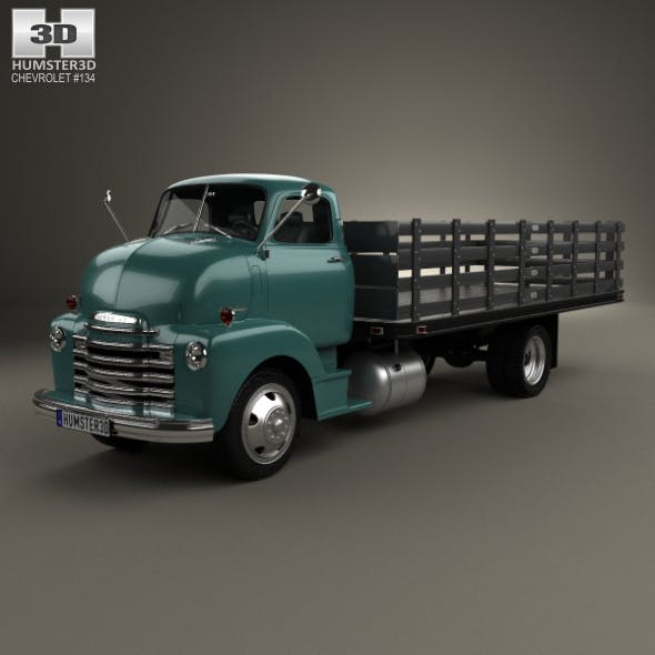 Chevrolet COE Flatbed Truck 1948 - 3DOcean Item for Sale