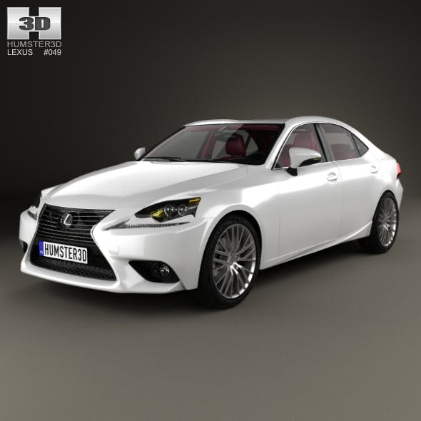 Lexus IS (XE30) with HQ interior 2013 - 3DOcean Item for Sale