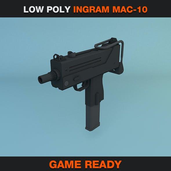 Low Poly Ingram MAC-10