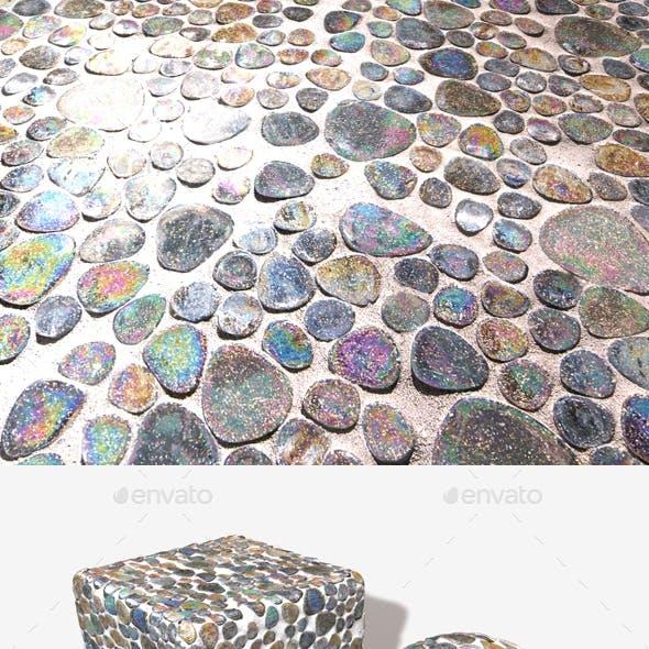 Iridescent Mosaic Tiles Seamless Texture