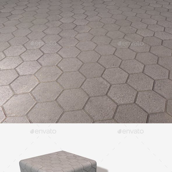 Hexagon Paving Slabs Seamless Texture