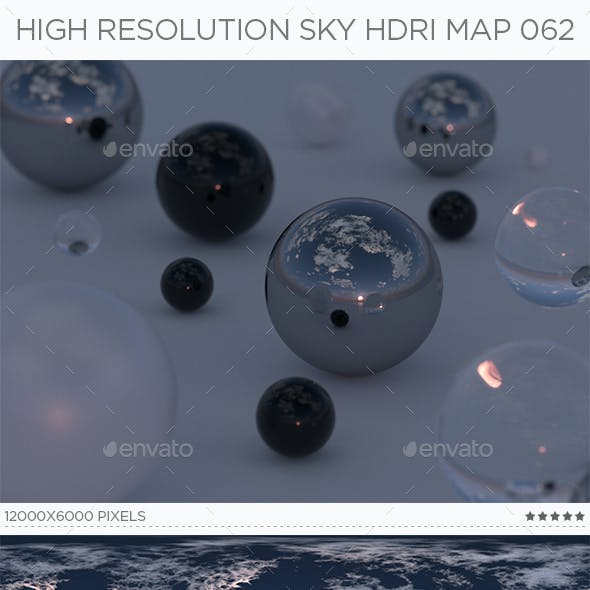 High Resolution Sky HDRi Map 062