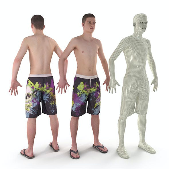 Beach Man A-Pose