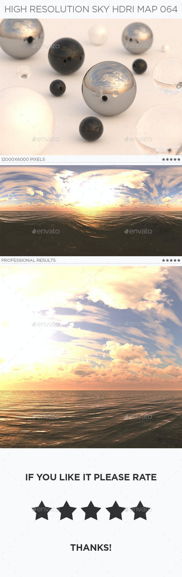 High Resolution Sky HDRi Map 064 - 3DOcean Item for Sale