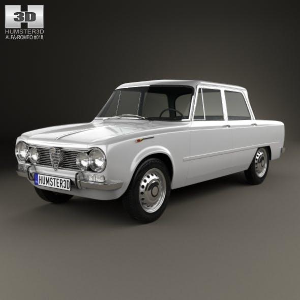 Alfa Romeo Giulia (105) 1962 - 3DOcean Item for Sale