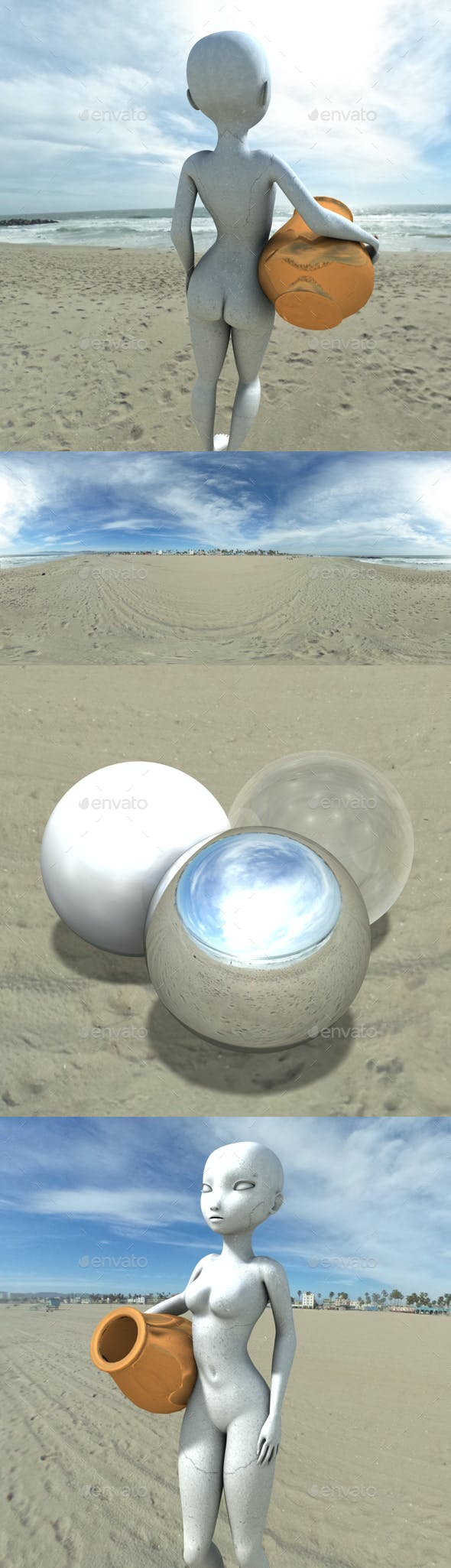 Bright Venice Beach HDRI - 3DOcean Item for Sale