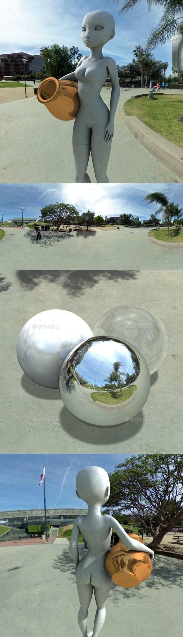 Sunny Tar Pit Park HDRI - 3DOcean Item for Sale