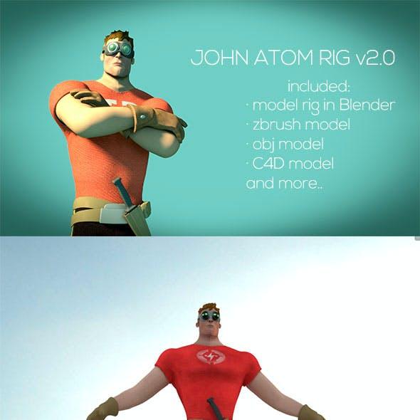 John Atom - Rig Character Blender