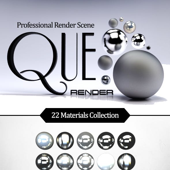 Que Render Scene - Realistic Vray Scene - 22 Material - Guide