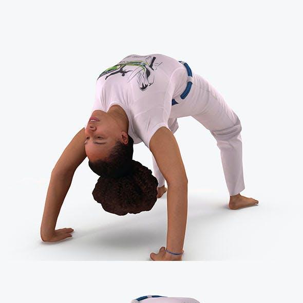 Woman gymnastics bridge