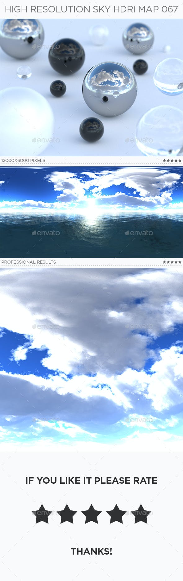 High Resolution Sky HDRi Map 067 - 3DOcean Item for Sale