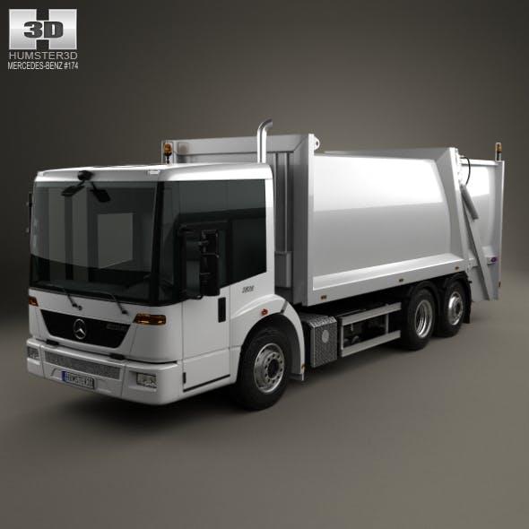 Mercedes-Benz Econic Garbage Truck Rolloffcon 3axle 2009 - 3DOcean Item for Sale