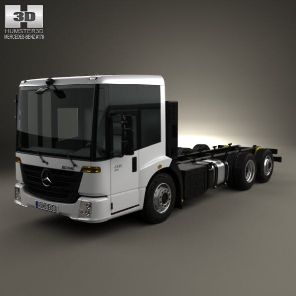 Mercedes-Benz Econic Chassis Truck 3axle 2013 - 3DOcean Item for Sale