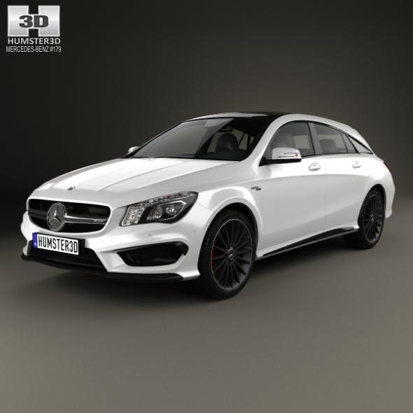 Mercedes-Benz CLA-Class (C117) ShootingBrake AMG 2014 - 3DOcean Item for Sale