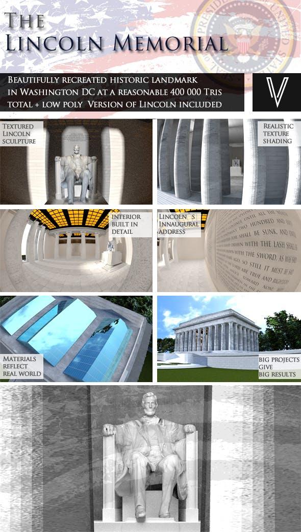 Lincoln Memorial - 3DOcean Item for Sale