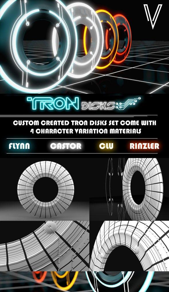 TRON Disks - 3DOcean Item for Sale