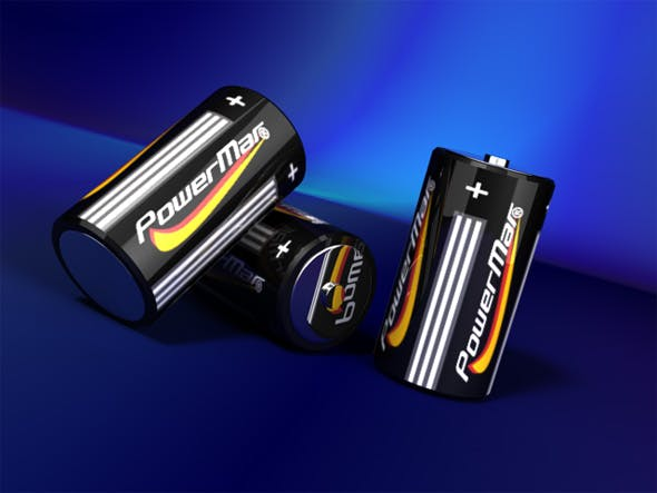 Batteries with studio lightning - 3DOcean Item for Sale