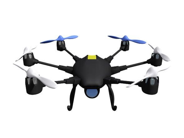HexaCopter Drone by spf1974 | 3DOcean