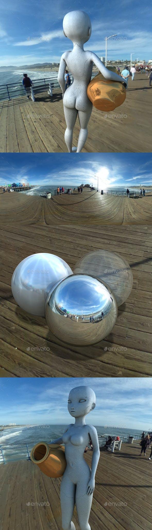 Morning Sky on Santa Monica Pier HDRI - 3DOcean Item for Sale