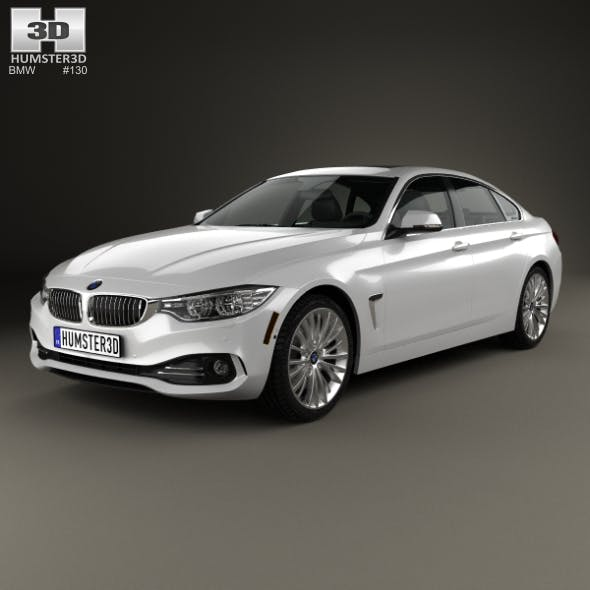 BMW 4 Series (F36) GranCoupe LuxuryLine US-spec 2014 - 3DOcean Item for Sale