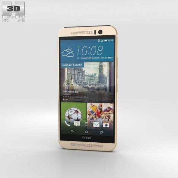 HTC One (M9) Amber Gold - 3DOcean Item for Sale