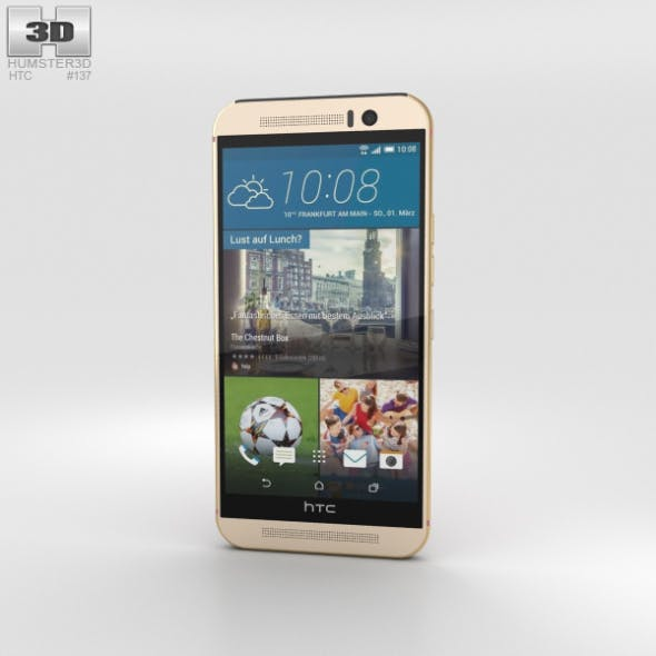HTC One (M9) Gold Pink - 3DOcean Item for Sale