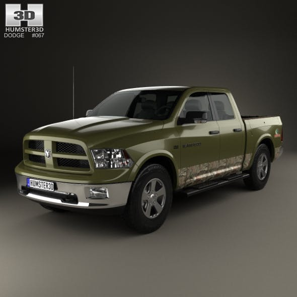 Dodge RAM 1500 Mossy Oak Edition 2014 - 3DOcean Item for Sale