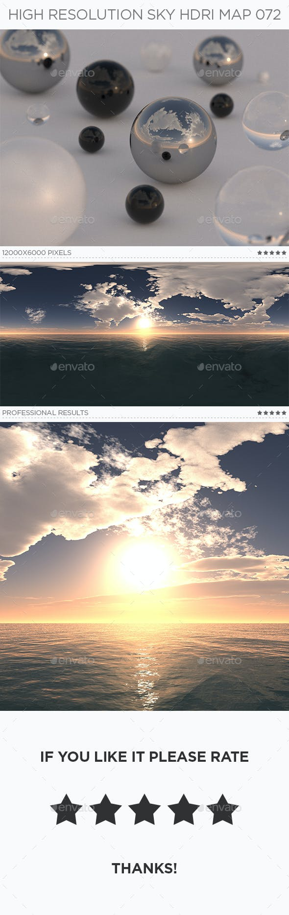 High Resolution Sky HDRi Map 072 - 3DOcean Item for Sale