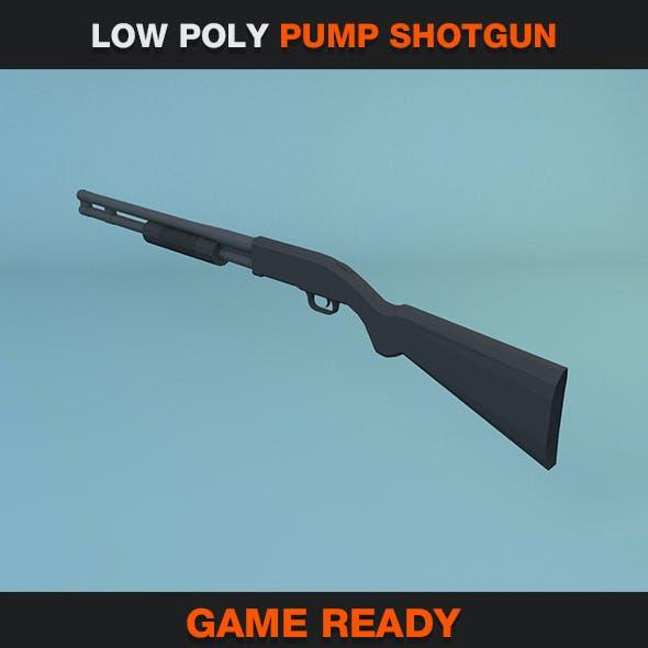 Low Poly Pump Shotgun