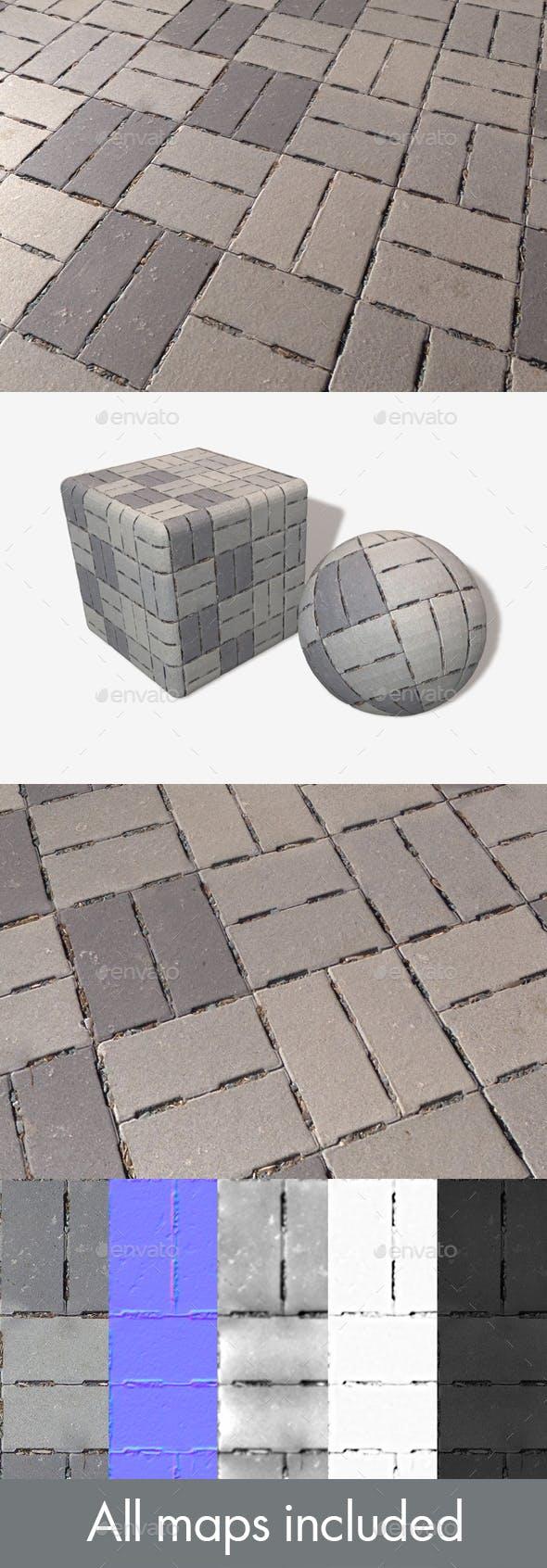 Concrete Brick Flooring Seamless Texture - 3DOcean Item for Sale