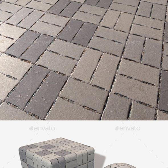 Concrete Brick Flooring Seamless Texture